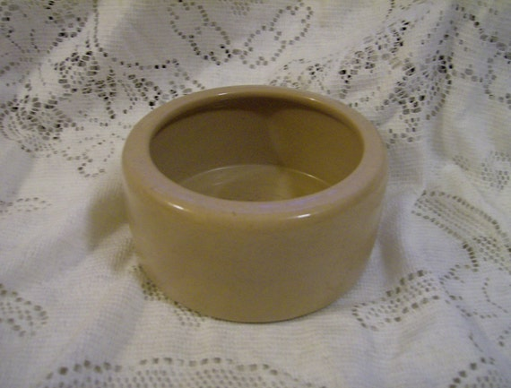 Vintage Heavy Stoneware Cat Dog Food Water Bowl By Vickysattic