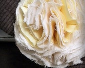 floral brooch, buttercup and cream