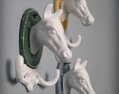cast iron horse hooks, choose your color, as seen in Southern Living Magazine