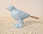 sparrow paperweight, pale blue