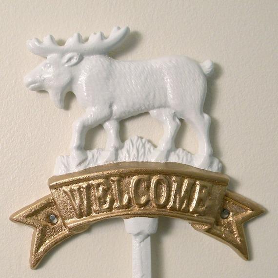 welcoming moose wall hook