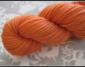 Pumpkin - Naturally Dyed Yarn - BFL - Heavy worsted weight