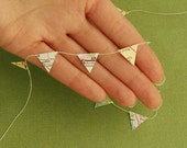 Miniature Map Bunting - Pennant - Garland - Banner - Made from Atlas Pages, Style 3