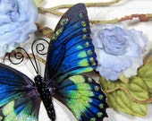 Butterfly Embellishments Emerald and Sapphire