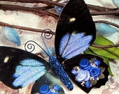 Butterfly Embellishments Bonnie Blue Rose