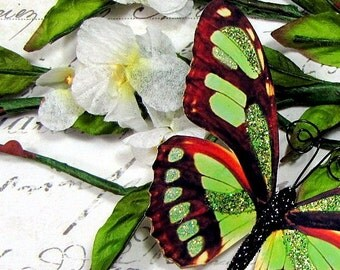 Butterfly Embellishments Garden Green