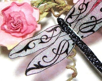 Glass Dragonfly Embellishments GD1