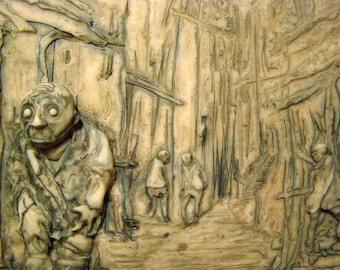 the Innsmouth Look, an original Lovecraftian sculpture