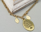 Family Tree Gold Tree Of Life Personalized Bracelet. Great Gift For Mom Or Grandma Personalized Jewelry