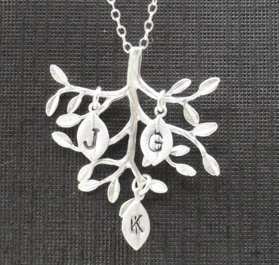Personalized Necklace - Family Tree Sterling Silver Necklace Custom Necklace
