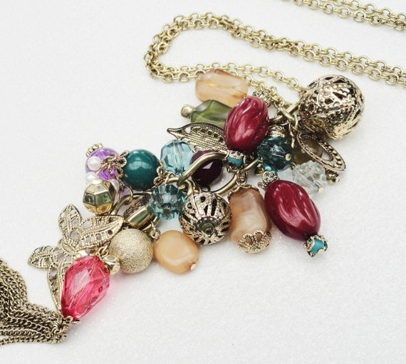 Gold Multi Charm Necklace