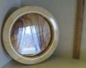 Medium Round Wooden Picture Frame - Handturned Reclaimed Wood