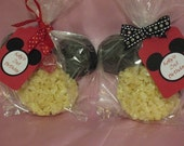 Mickey and Minnie Mouse Rice Krispie Treat Favors