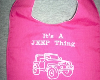 It's A JEEP Thing w/ Jeep ( PINK)  baby bib