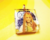 Sparkly Miley Cyrus Glass Pendant