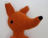 fox toy - crochet pattern - PDF