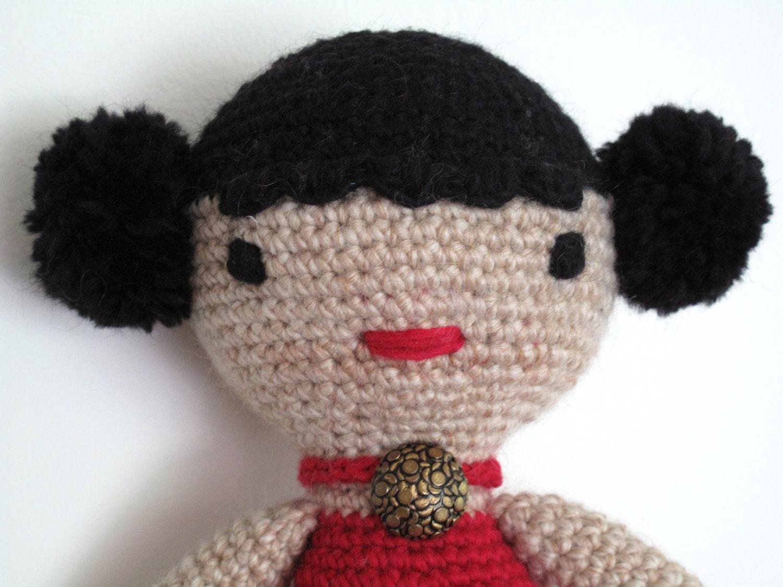 girl doll amigurumi crochet pattern PDF