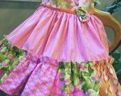 "DRESS 4T ""Pinkalicious""Designer Cottons betrueoriginals"