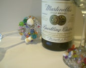 """SALE Jeweled Wine Goblets """" Toasting You"""" Set Of Two betrueoriginals"""