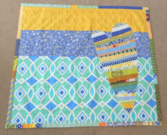"Quilt ""Big Heart For A Little One"" Designer Cotton Patchwork Quilt betrueoriginals"