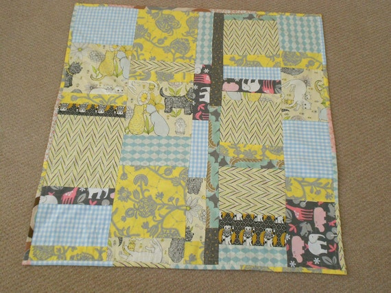 "Baby Quilt ""Big Heart For A Little One"" Designer Cotton Patchwork Quilt betrueoriginals"