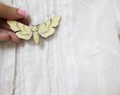 butterfly series yellow  butterfly brooch
