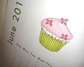 SALE - 2010 Printable Cupcakes Calendar