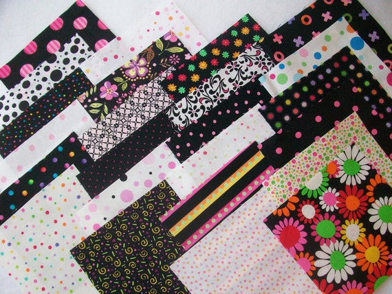 Ooh la dot Fabric Charm Pack --24 different