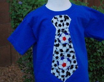 Soccer Tie Tshirt in blue