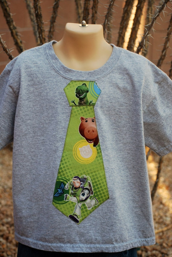 Toy Story Tie T-shirt / you choose which characters show
