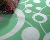 Loop da loop - hand screen printed skinny quarter - White on Apple Green