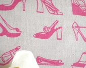Shoes - hand screen printed skinny quarter - Fuchsia Pink on White
