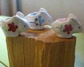 three Amigos Bunny Birthday Candles holder reusable