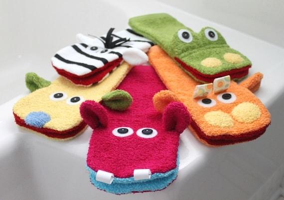 Items Similar To Hippo Washcloth Hand Puppet Bath Tub Toy