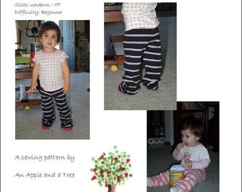 Yoga pants for tots- PDF sewing pattern