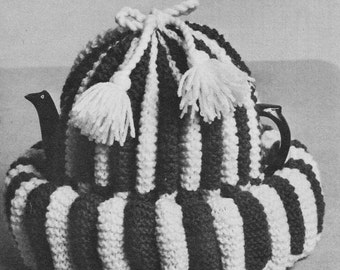 INSTANT DOWNLOAD PDF Vintage Knitting Pattern   Tea Cosy Cozy and Nest Retro