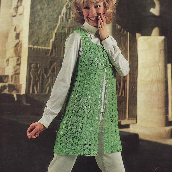 Instant Download Pdf Vintage Crochet Pattern 1970s Tunic
