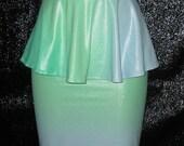 Peplum belt w/ High waist pencil skirt ...TYE DYE... Ready to Ship