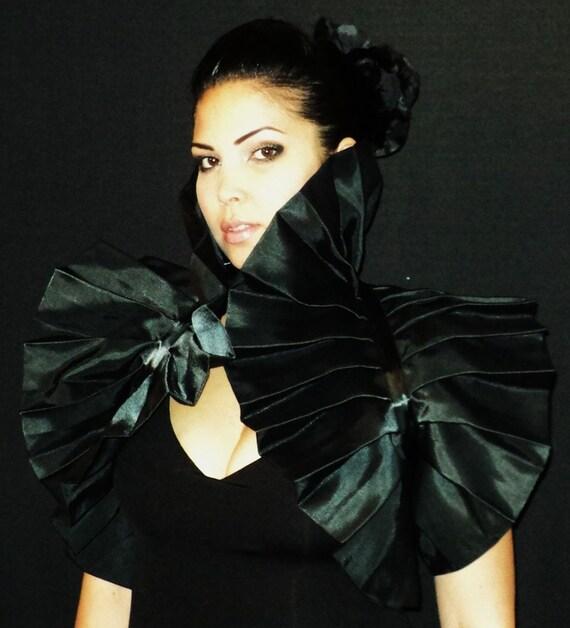 Harley Quinn Costume Wedding Twilight Gothic Vampire High Black Bolero Shrug Moulin rouge Cosplay