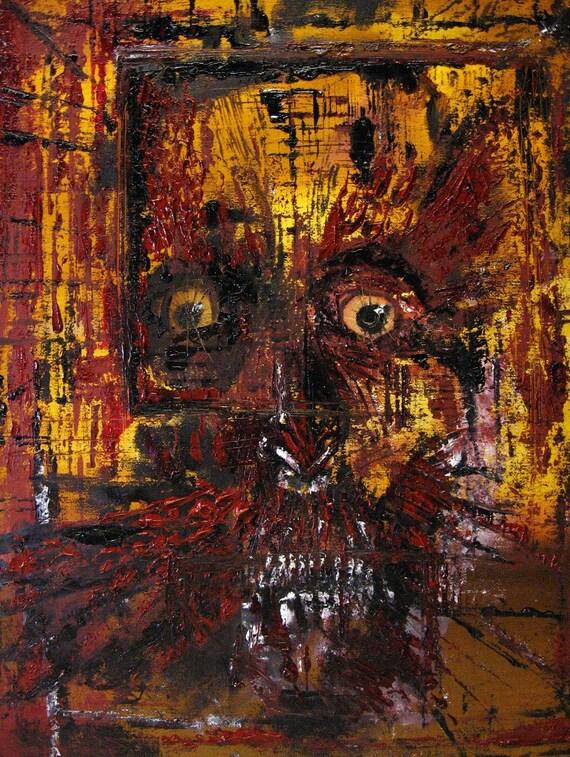 Brain Damage II. - Original Oil Painting