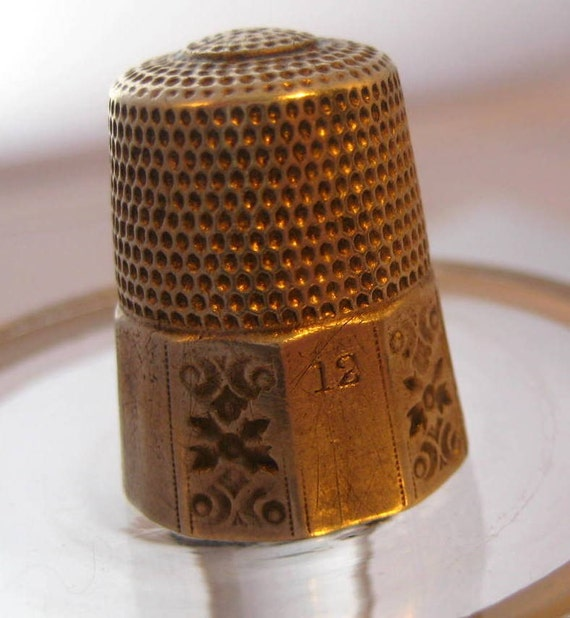 Vintage Simons Sterling Silver Thimble Size 12 Hand Sewing Quilting