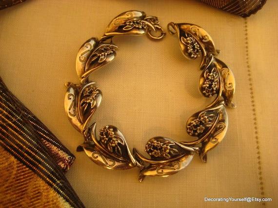 Rare Designer Alice Caviness Sterling Silver Bracelet 1950s