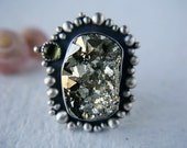 Reserved (Balance) - All that Glitters - Pyrite Sterling Silver Ring