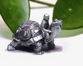 On A Whim Pewter Tortoise Tooth Fairy Box