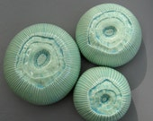 Three Turquoise Ceramic Barnacles Wall Hanging