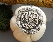 Black and White Ceramic Spore Pod Wall Art 2