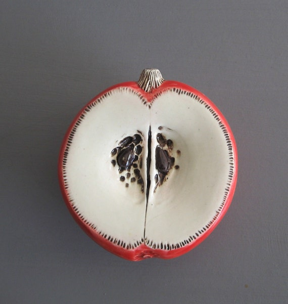 Little Red Apple  Ceramic Wall Hanging