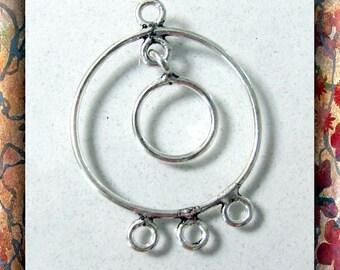 Earring Hoops  pewter 1 Pair dangles, drops, beading hoops  Item #1046