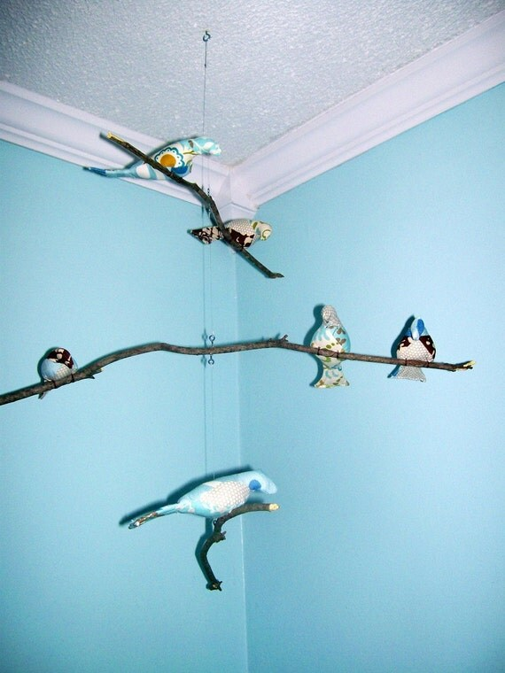3-Tiered Natural Bird Mobile