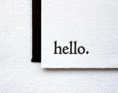 Hello Letterpress Notes. Set of 6